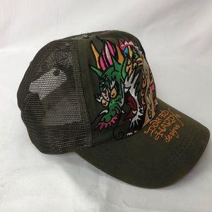 e78d4974106 Ed Hardy Accessories - Ed Hardy Baseball Cap Dragon Embroidered